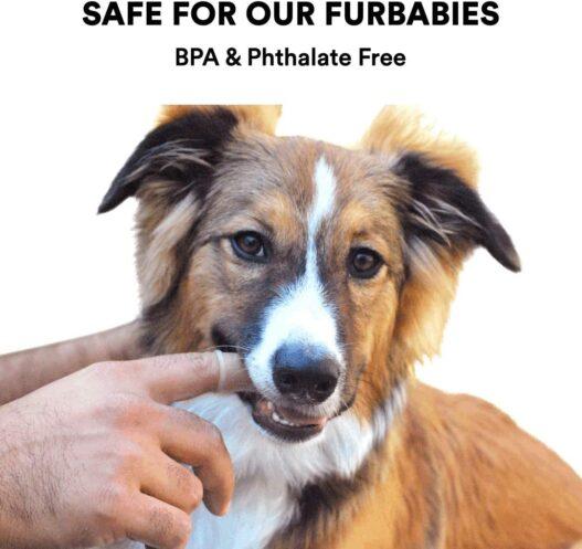 Barkley's 360º Dog Fingerbrush Toothbrush - Ergonomic Design - Full Surround Bristles for Easy Cleaning
