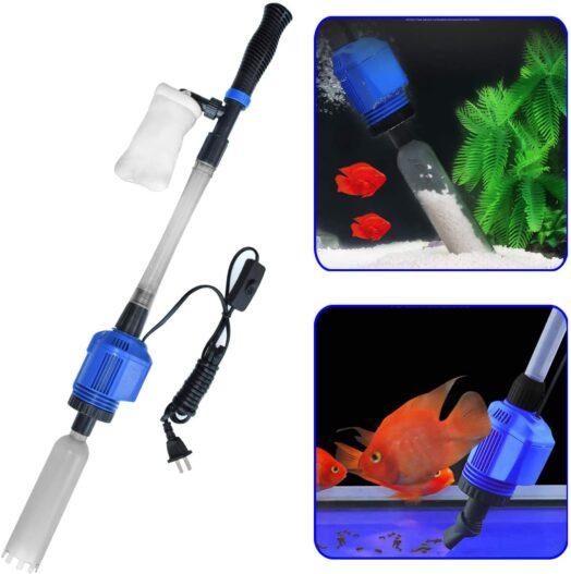 YADICO Auto Electric Aquarium Gravel Cleaner, 3 in 1 Automatic Sludge Extractor for Fish Plant Tanks