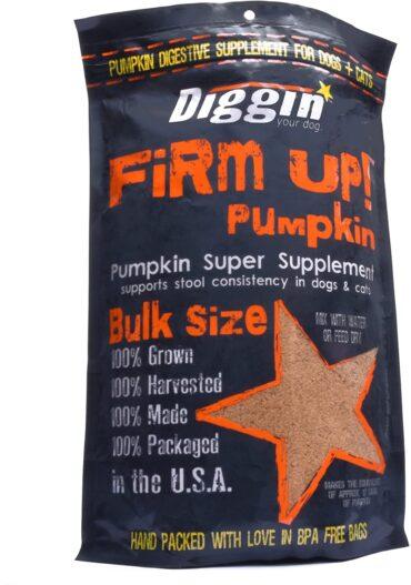 Diggin' Your Dog 1 Piece Firm Up Pumpkin Bulk Super Supplement, 16 oz